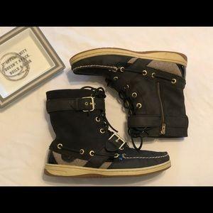 Sperry Huntley boot / bootie size 6.5 black